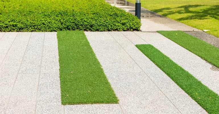 Césped artificial para jardines y patios